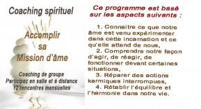 Coaching spirituel-Accomplir mission de l'âme