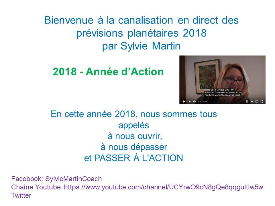QUE NOUS RÉSERVE 2018 – CANALISATION DES PRÉVISIONS PLANÉTAIRES PAR SYLVIE MARTIN
