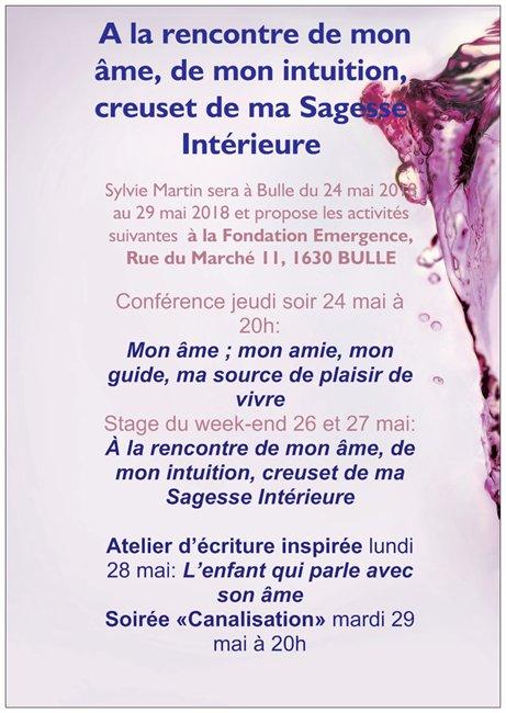 Sylvie à Bulle, Canton de Fribourg, SUISSE du 24 au 29 mai 2018