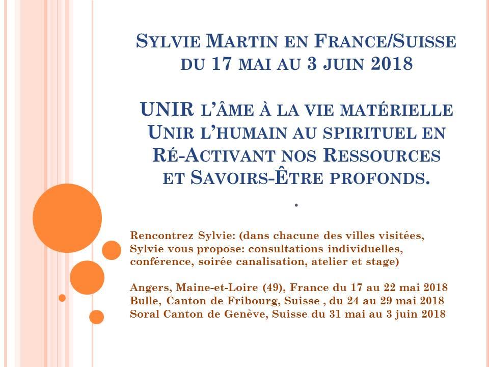 L'intuition et L'amour au COEUR de la tournée France/Suisse Mai 2018