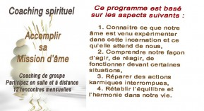 Coaching spirituel-Accomplir mission de l'âme