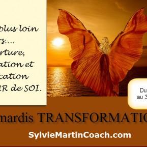 TRANSFORMATION permettant  d'aller un pas plus loin dans l'ouverture, l'acceptation et l'unification avec l'AMOUR de SOI.