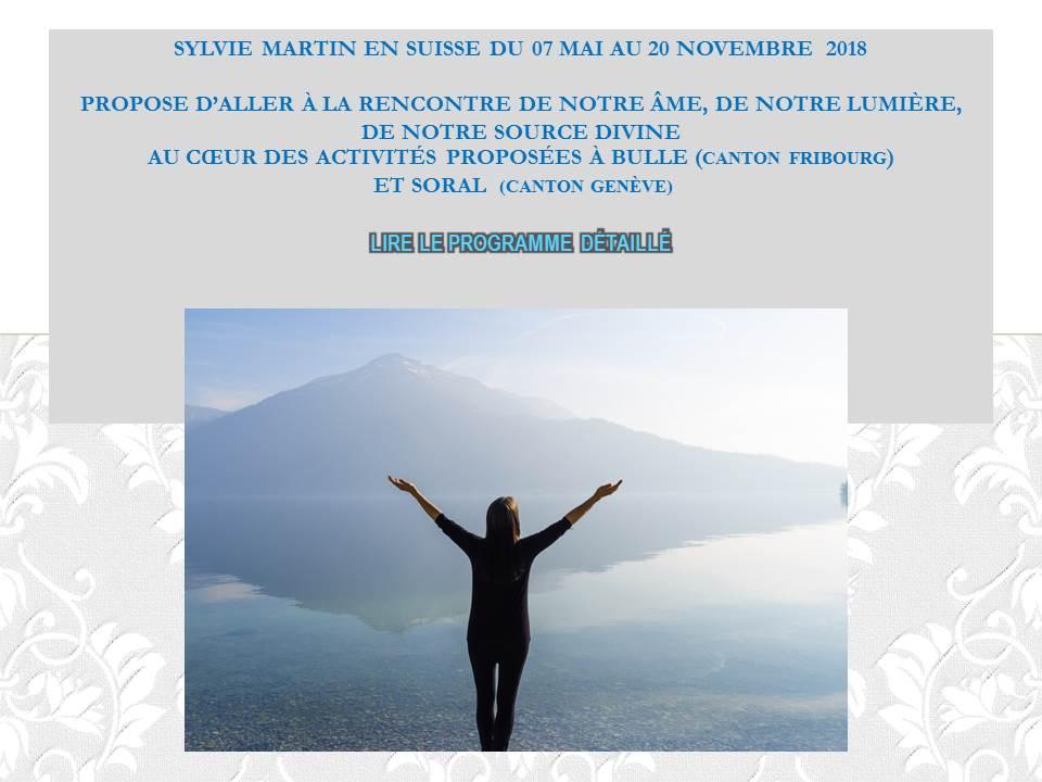 Je SUIS un ÊTRE DIVIN en évolution – sujet au coeur des activités en Suisse du 7 au 20 novembre 2018