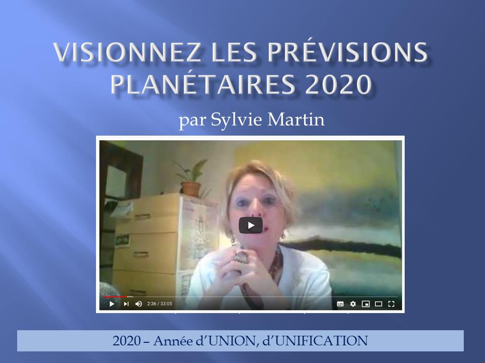 Les prévisions planétaires 2020 – VIDÉO EN DIFFÉRÉ