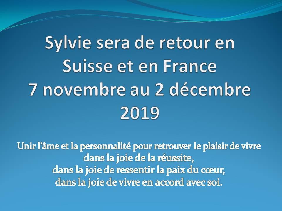 Tournée Suisse et France – novembre 2019