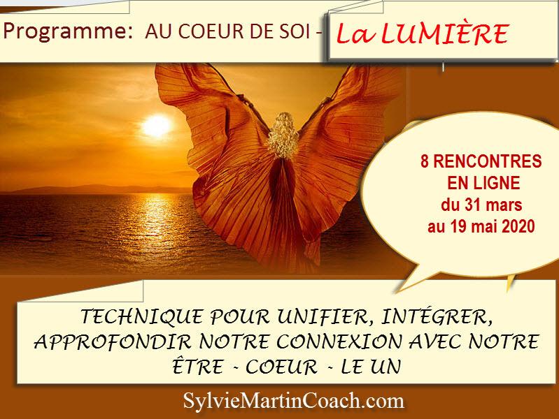 Programme AU COEUR DE SOI – J'AI CONSCIENCE DE MA LUMIÈRE
