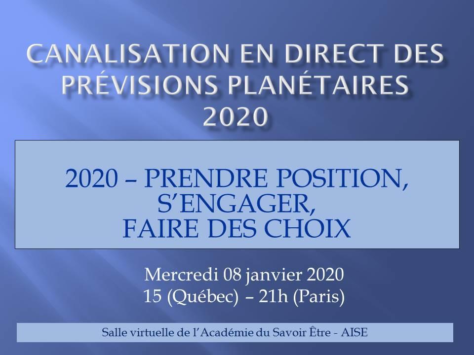 Canalisation des prévisions planétaires 2020 en direct