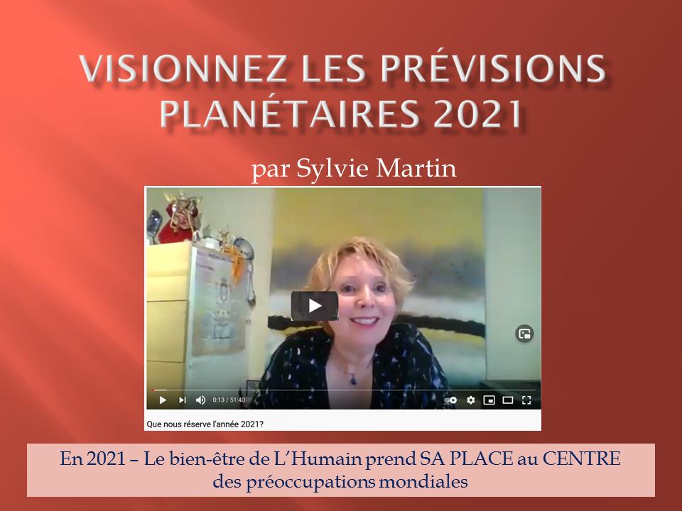 Les prévisions planétaires 2021 – VIDÉO EN DIFFÉRÉ
